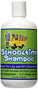 Schooltime Shampoo for Super Lice & Nit Elimination-- 12 OZ. Highly Effective After One 15 Minute Application