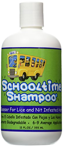 Schooltime Shampoo for Head Lice & Nit Removal - 12 OZ. Highly Effective After One 15 Minute ()