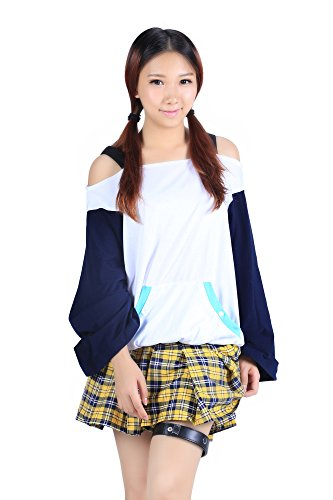 Mizore Shirayuki Cosplay Costume (De-Cos Rosario to Vampire 'Yuki Onna' Shirayuki Mizore Outfit 1st Ver Set)
