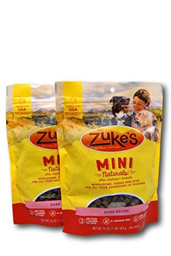 Zuke's Mini Naturals Dog Treats, Pork, 16 oz. Pouch - 2 Pack