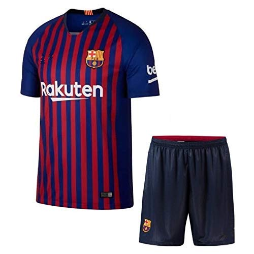 59b2fda2cf6 Barcelona Home 2018-2019 Jersey kit for Adults - T Shirt and Shorts Jersey  Set (Large)  Amazon.in  Sports