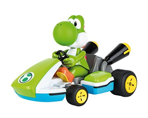 - Carrera RC 162108 Official Licensed Mario Kart Yoshi Race Kart 1:16 Scale 2.4 GHz Splash Proof Remote Control Car Vehicle with Sound and Body Tilting Action - Rechargeable Battery - Kid Toys