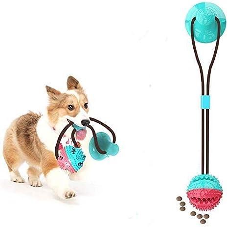 Juguete para Perros Molar,Pet Molar Bite Toy,Pelota de Goma para morder el Perro con Ventosa interactiva, Juguete para Masticar,Pelota de Entrenamiento para Cachorro Cuidado Limpieza de Dientes