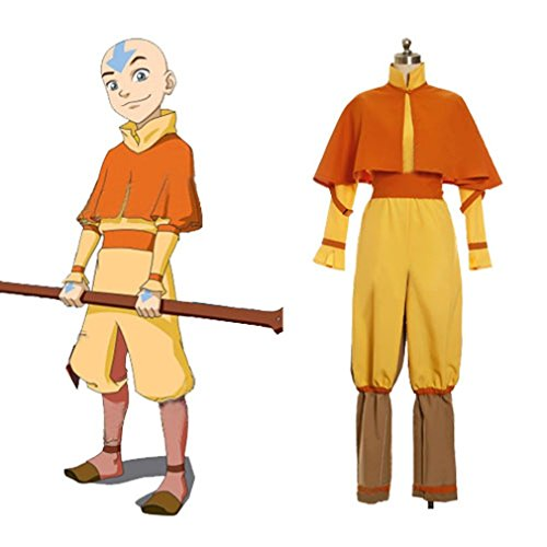 Cuterole Aang Cosplay Costume from Avatar The Legend of Korra Custom - Aang Costume