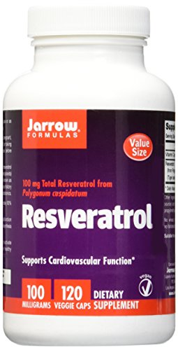 Jarrow Formulas Resveratrol, Supports Cardiovascular Function, 100 mg, 120 Veggie Caps