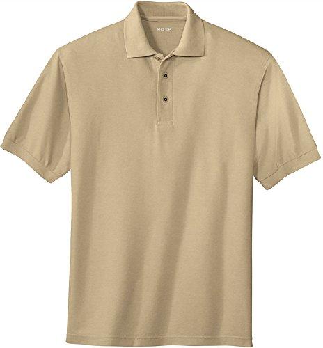 Joe's USA Men's Classic Polo Shirts - Regular Medium (38-40) - Stone ()