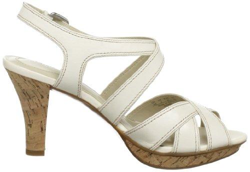 Naturalizer DHANI B6562L1251 - Sandalias fashion de cuero para mujer Blanco