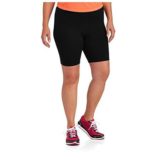 Danskin Now Womens Black Plus Sized Bike Short by (2X)