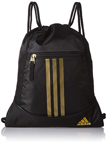 Adidas Alliance II Sackpack, Black/Gold, One Size
