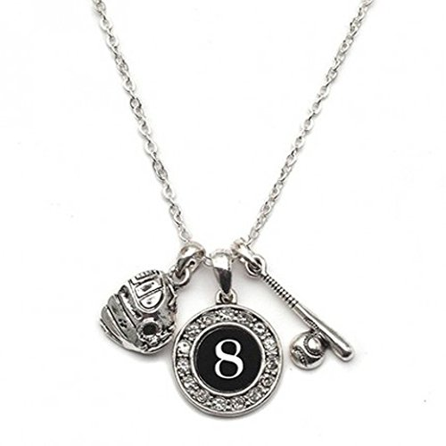 MadSportsStuff Custom Player ID Softball Necklace (#8, One Size)