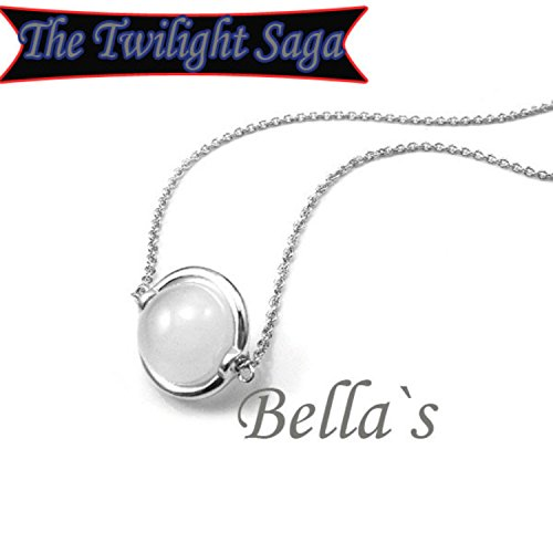 Chain Ball 18mm Necklace (Bella Moonstone Twilight Saga Movie Inspired Necklace with 21