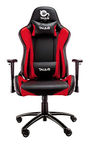 Talius Lizard Silla Gaming Profesional Negro/Rojo, Inclinacion y Altura Regulable, reposabrazos 2D Ajustables (Rojo)