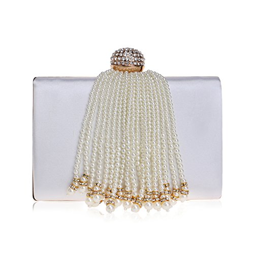 de sac soirée nuptiale Pour femme de 2x5x7inch soirée mariage le de cristal Blanc de Bourse Sac mariage bal diamant soirée 5x12x18cm de en blanc de pour q0RZHwP