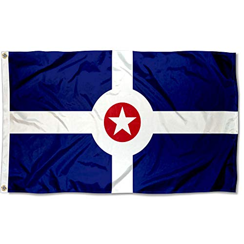 Sports Flags Pennants Company City of Indianapolis Flag 3x5 Foot Banner ()