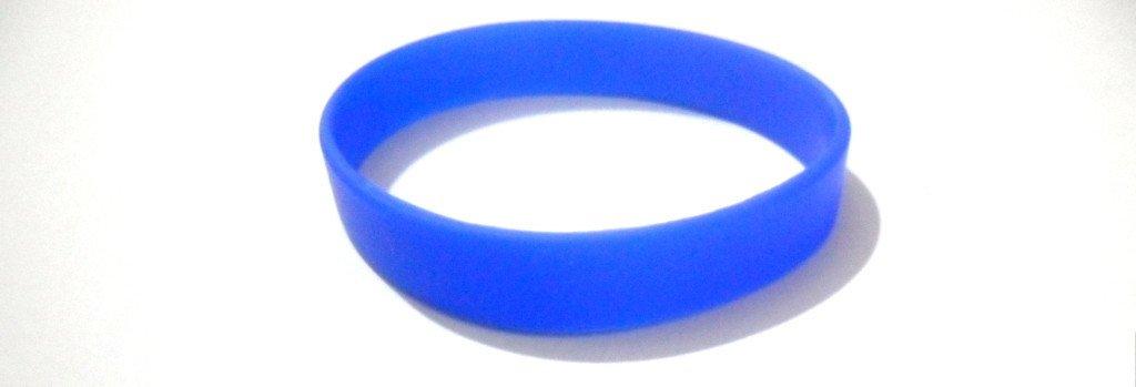 マルチカラーブランクシリコンブレスレットゴムブランクスポーツカフファッションユニセックスリストバンド L / 20.2 Cm / 8 Inches ブルー B00G7UDKYA