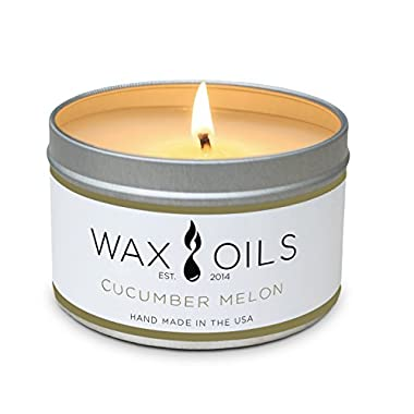 Scented Candles (Cucumber Melon) Soy Wax Aromatherapy Candles, 8oz