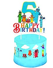Numberblocks cake topper 5