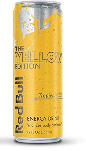 Red Bull the Yellow Edition - Tropical - 12fl.oz. (Pack of 16) (Cranberry Red Bull Case)