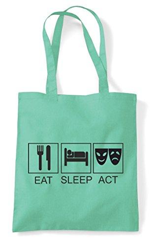 Mint Tote Sleep Shopper Bag Act Eat Ew7XHxq0x