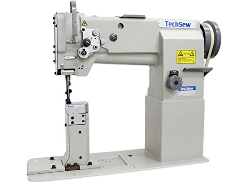 TechSew 860 Post Bed Walking Foot Industrial Sewing Machine with Assembled Table & Servo Motor by TechSew
