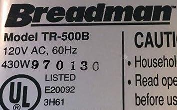 Breadman tr500b Pan máquina remo tr-500b hoja nueva parte ...