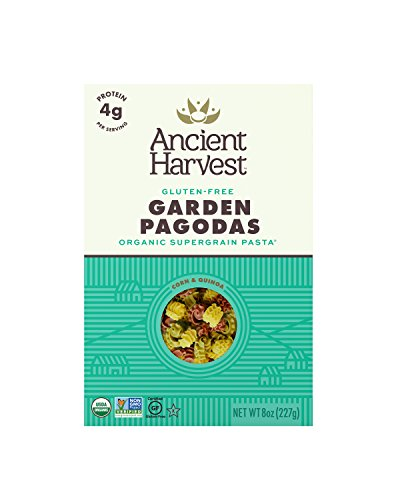 Ancient Harvest Organic Gluten-Free Corn and Quinoa Supergrain Pasta Garden Pagodas, 8 oz. Box, Plant-Based Pasta with the Same Great Taste and Texture of Traditional Pasta