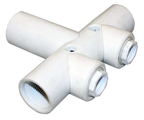 "Merrill MFG PVCHDT1002  PVC Tank Tee, Sch 120 PVC, 1"" FIP..."