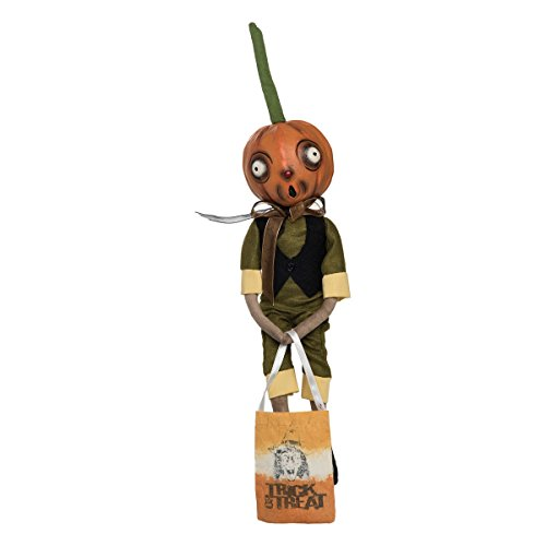 GALLERIE II Orvis Pumpkin Head Guy Joe Spencer Gathered Traditions Halloween Art Doll -