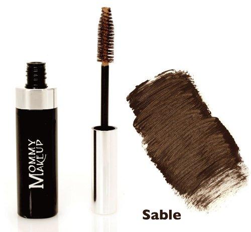 (Mommy Makeup Brow Tint Eyebrow Makeup. Long Lasting Eyebrow Gel. Clump-Free, Paraben-free, Talc-free, Made in USA. PETA Certified No Animal Testing - Sable )