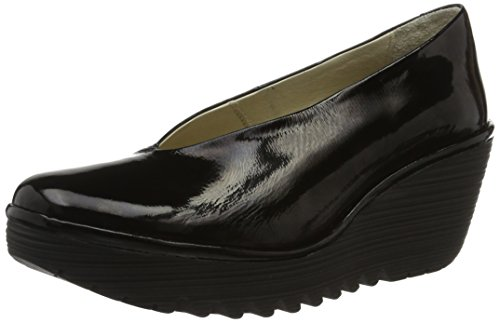 Fly London Yaz - Black Luxor (Leather) Womens Shoes 6.5/7 US