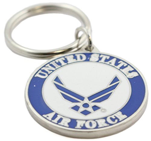 US Air Force Logo Keychain Patriotic Key Ring Military Gift Men Women Veterans Air Force Key Ring