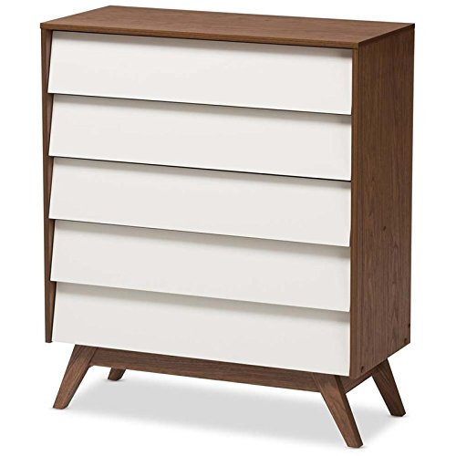 Baxton Studio 5-Drawer Storage - Angled Chest