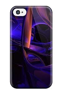 Best Iphone 4/4s Case Cover Skin : Premium High Quality Purple Case 2411014K64475263