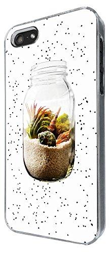 609 - Sand in a Jar Beach Design iphone 4 4S Coque Fashion Trend Case Coque Protection Cover plastique et métal