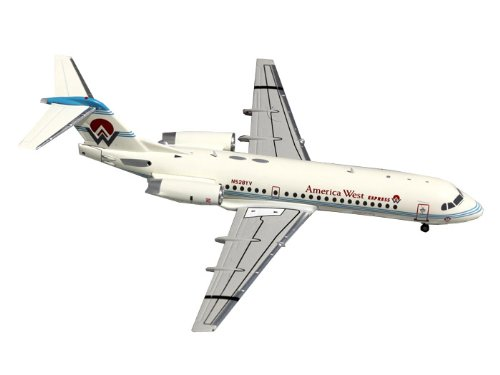 Gemini Jets America West Express Fokker 70 Diecast Aircraft, 1:200 Scale (West Gemini Airlines America)