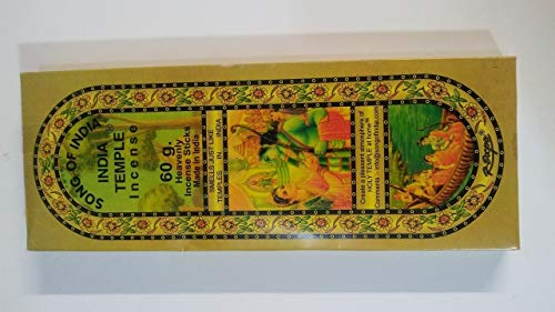 1 X India Temple Incense - Song of India - 50 Stick Medium Box - Incense Sticks Temple