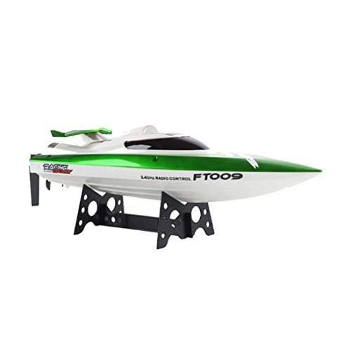 E-SCENERY 2.4GHz 4CH High-Speed Remote Control Boats Built-in Water Cooling System and Auto Safe Mode Equipped Technology, RC Racing Boat for Pools, Lakes and Outdoor, Rechargeable Battery (Green)