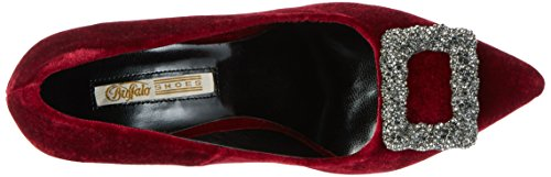 1507 Femme Rk David Escarpins Velvet Rouge 197 s Bitton Buffalo 01 Burgundy CtAxwqq