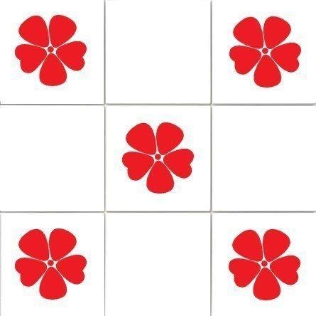 18 x Poppies Kitchen / Bathroom Vinyl Tile Transfers
