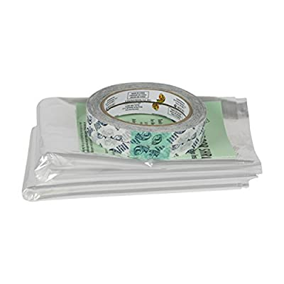 Duck Brand Shrink Film Window Kit, 62 in. x 420 in., Clear, 10-Pack, E-Commerce Packaging (285233)