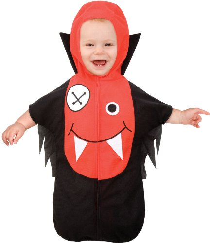 Living Fiction Lil Vampire Infant Kids Costume Red|Black Small/Medium (0-9MO) (Lil Vampire Costume)