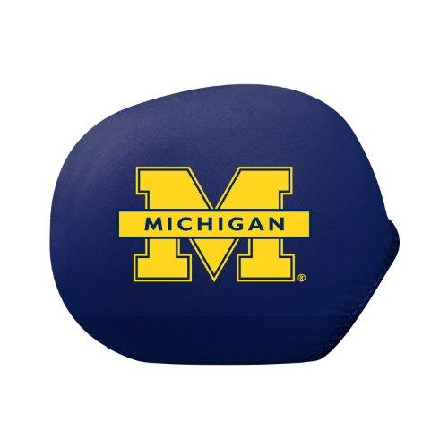 Pilot Alumni Group SMC-902S Mirror Cover with Logo (Collegiate Michigan Wolverines), Small