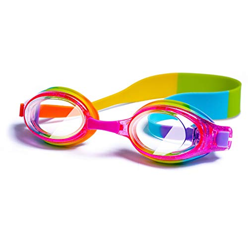 Kids Swim Goggles Waterproof Swimming Goggles Kids Goggles Glasses With Clear Wide Vision Anti Fog UVA/UVB Protection and No Leak Soft Silicone Gasket for Girls by ()