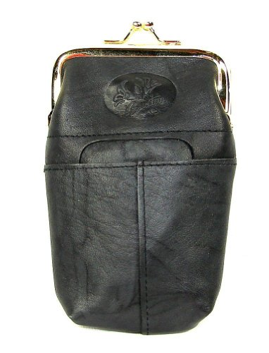Buxton Black Leather (Buxton Heiress Black Leather Cigarette Case with Lighter Pocket,One Size)