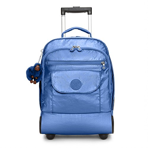 Kipling Women's Sanaa Metallic Rolling Backpack One Size Scuba Diver Blue Metallic by Kipling