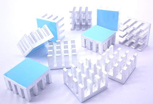 Aluminum Cooler Cooling Heat Sink for Cooling 3D Printers Easycargo 40mm Heatsink 40x40x11mm TEC1-12706 Thermoelectric Peltier Cooler 40mmx40mmx11mm Black 6pcs