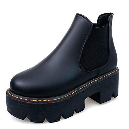 Elastic 35 Table Eu nero Short Waterproof Thick Eu Casual Scarpe Cylinder 's Bottom Deed Boots Donne 36 Z0F88w
