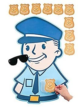 Fun Express Pin The Badge on The Policeman Police Carnival Party Game SG/_B0176KBVTA/_US