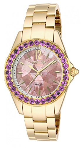 Invicta 14535 Womens Angel Goldtone Mother of Pearl Dial Bracelet Watch [Watch]