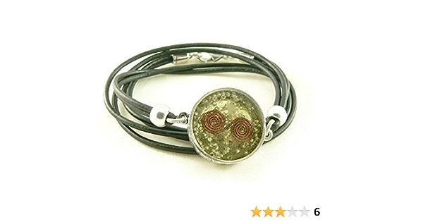 Black Tibetan Tourmaline Protection Quartz Crystal 3 Sided Pendant Cord Necklace